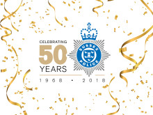 Sussex Police looks back at 50th anniversary celebrations