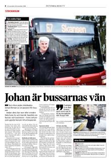 Johan Ekman intervjuas för DirektPress/Östermalmsnytt