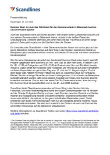 Summer Deal: im Juni das Fährticket für den Sommerurlaub in Dänemark buchen und 20 Prozent sparen