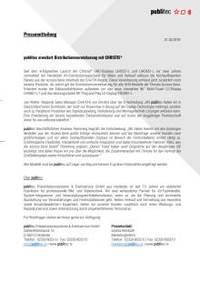 publitec erweitert Distributionsvereinbarung mit CHRISTIE®