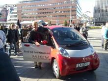 Europapremiär för Mitsubishis elbil – i-MiEV
