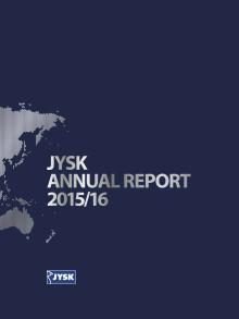 JYSK Annual Report 2015/2016