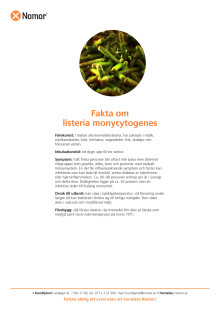 Fakta om listeria monycytogenes