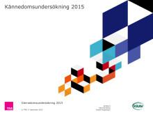 Sifo Kännedomsundersökning KRAV 2015