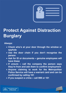Distraction burglary advice sheet