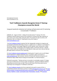 Tech Trailblazers Awards Recognize Green IT Startup Champions around the World