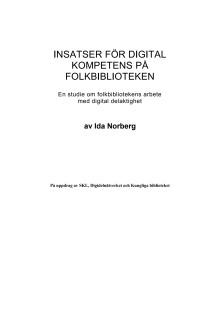 Insatser för digital kompetens på folkbiblioteken