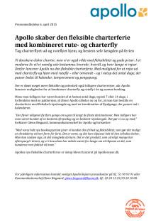 Apollo skaber den fleksible charterferie med kombineret rute- og charterfly