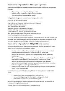 Statens pris for boligsosialt arbeid 2016 - Juryens begrunnelse