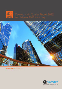 Cavotec 4Q12 report and full year 2012 summary