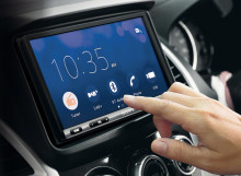Sony's latest in-car AV receiver with increased screen size and updated smartphone conversion