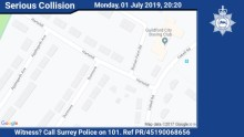Appeal for witnesses to Park Barn collision involving a pedestrian