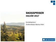 Rapport Skogsmarkspriser - första halvåret 2017