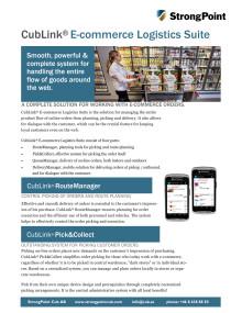 E-commerce Logistics Suite
