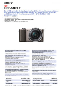 Datenblatt ILCE-5100LT von Sony