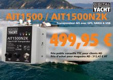 Prix sur transpondeurs AIS classe B AIT1500 et AIT1500N2K pour magasins Accastillage Diffusion
