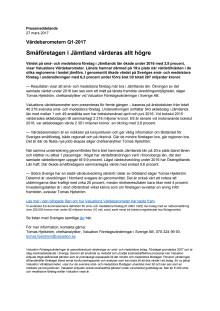 Värdebarometern Q1-2017 Jämtlands Län