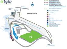 Provisorisk infartsväg till Bromma Stockholm Airport