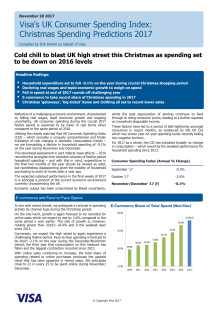 Cold chill to blast UK high street this Christmas as spending set to be down on 2016 levels
