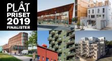 Fem svenska metallfasader, finalister i PLÅTPRISET 2019