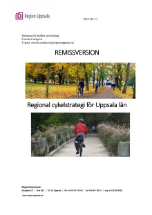 Remissversion Regional cykelstrategi