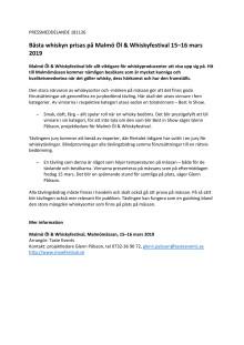 Pressmeddelande Whiskytävling PDF