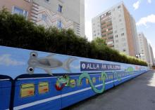 Ny muralmålning tar plats i Alby