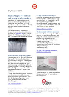Nyhetsbrev; Säkra badrum, branschregler och nyttan av ett våtrumsintyg