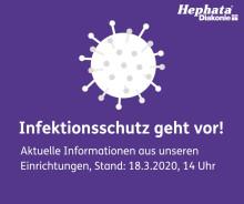 Coronavirus: Aktuelle Infos aus Einrichtungen der Hephata Diakonie