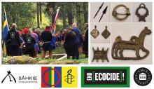 Vi kräver rättvisa för samerna - internationella urfolksdagen uppmärksammar rättigheter och i synnerhet återbörande av samiska kvarlevor och offergåvor till Sápmi. Se video från LIVE sändningen.