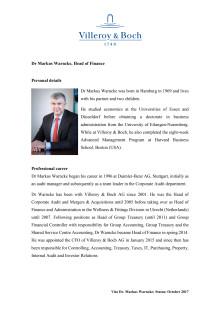 Cv Dr Markus Warncke