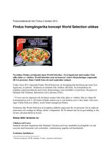 Findus framgångsrika koncept World Selection utökas