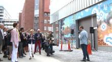Film om första färdiga konstverket på Nya Karolinska Solna