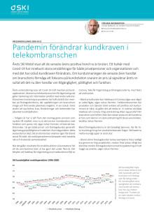 Pandemin förändrar kundkraven i telekombranschen