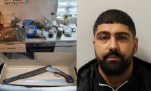 Man caught with drugs and guns jailed for 12 years