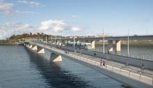 Lilla Lidingöbron främjar gång, cykel och järnväg