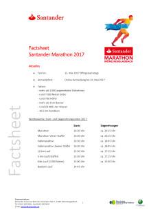 Santander Marathon  Factsheet