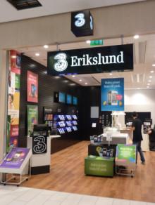 Mobiloperatören 3 expanderar i Västerås– Öppnar butik i Erikslund Shopping Center