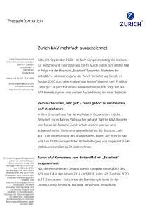 Zurich bAV mehrfach ausgezeichnet