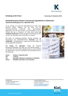 ACHTUNG: Adresskorrektur Presse- und Fototermin Bootshafensommer Benefiztag Spendenübergabe