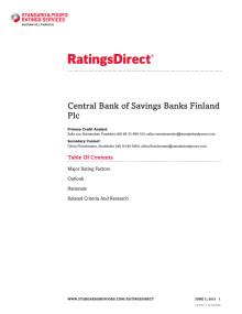 Rating report