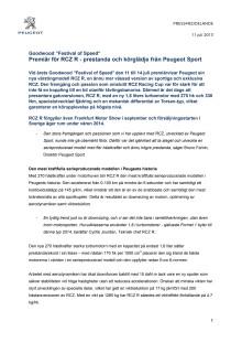 Premiär för RCZ R - prestanda och körglädje från Peugeot Sport