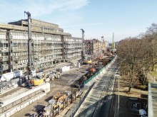 """Meilenstein beim Straßentunnel """"Kriegsstraße"""" in Karlsruhe: ZÜBLIN beendet Spezialtiefbauarbeiten"""