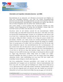 Information och inspiration månadens blomma – juni 2008.