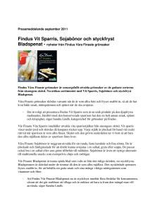 Vit Sparris, Sojabönor och styckfryst Bladspenat - nyheter från Findus Våra Finaste grönsaker