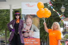 Walking tall for ellenor at BGC Charity Day