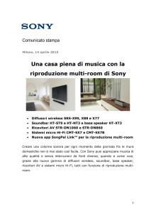 Una casa piena di musica con la riproduzione multi-room di Sony
