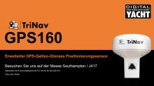 Digital Yacht wird auf der Southampton Boatshow seinen TriNav GPS160 vorstellen, einen neuen, leistungsstarken Positionssensor mit GPS, Glonass und den neuen Galileo-Satellitensystemen.