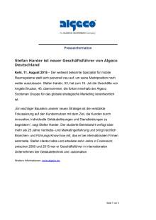 Stefan Harder ist neuer Geschäftsführer von Algeco Deutschland