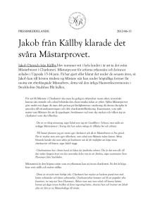 Jakob från Källby klarade det svåra Mästarprovet!